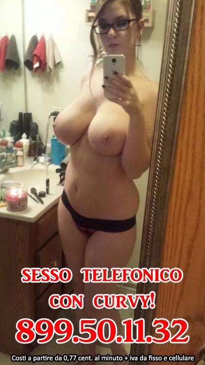 sesso al telefono con ragazza curvy